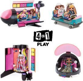 L.O.L Surprise OMG Remix 4 in 1 Plane Playset