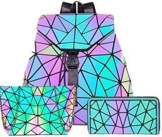 Luminous Geometric Purse and Handbags