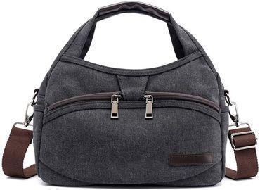 Canvas Small Messenger Bag Casual Travel Crossbody Bag Mini Shoulder Handbag for Women and Men