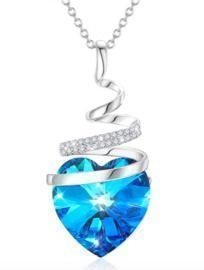 Crystal Butterfly Heart Necklace