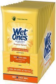 Wet Ones Antibacterial Hand Wipes 20-Ct. 10-Pack