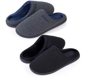 2 Pairs Two-Tone Memory Foam Slippers