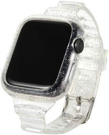 Clear Glitter Watch Band with Protective Case