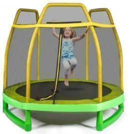 7FT Kids Trampoline with Safety Enclosure Net