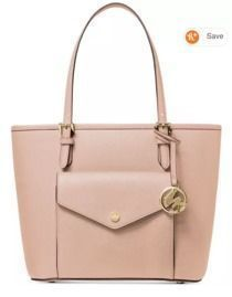 Michael Kors Jet Set Medium Leather Pocket Tote