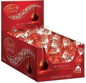 60-Count 25.4oz. Lindt Lindor Milk Chocolate Truffles