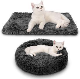 Pet Bed with Double Layer Blanket