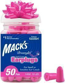 Mack's 50 Pairs of Dreamgirl Soft Foam Earplugs