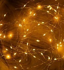 32' Warm Gold Mini String Lights