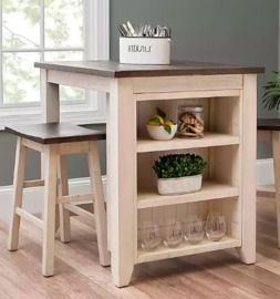 White 3 pc Franklin Kitchen Island & Stools Set