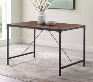 Dark Walnut Industrial Jason Dining Table