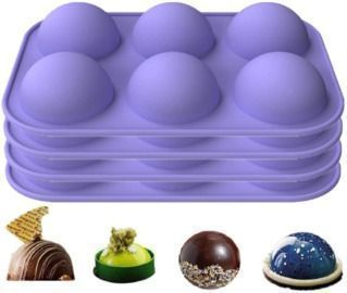 4PCS Silicone Molds for DIY Hot Chocolate Bombs and more
