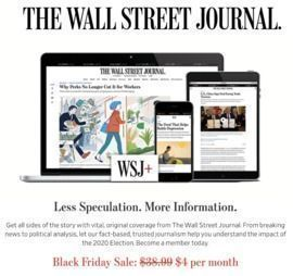 Cyber Monday! 1-Year of The Wall Street Journal (All Access Digital)