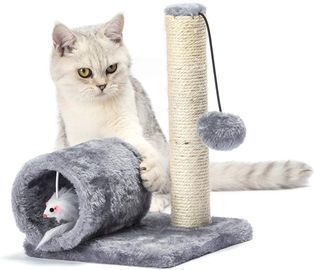 Cat Scratching Post with Toy Mouse