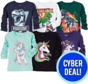 60% OFF on Children's Graphic Tees