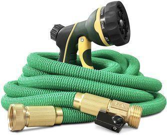NGreen Expandable and Flexible Garden Hose + Free Spray Nozzl
