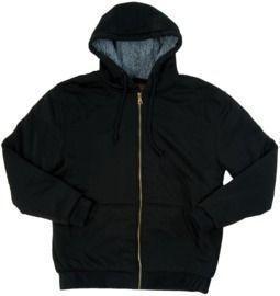 Mens Mountain Ridge Sherpa Fleece Hooded Jacket