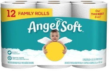 Angel SoftBath Tissue 12 Family Rolls
