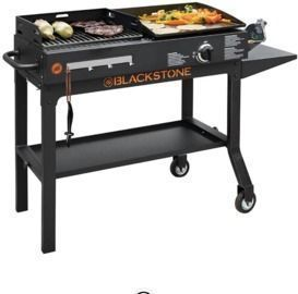 Blackstone Duo 17 Griddle and Charcoal Grill Combo
