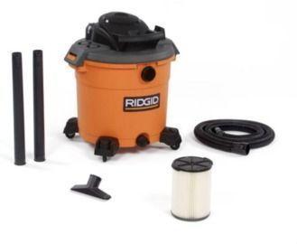RIDGID 16 Gal. 5.0-Peak HP Wet/Dry Shop Vacuum + Accessories
