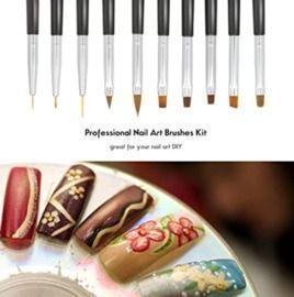 10pcs Nail Brush Set