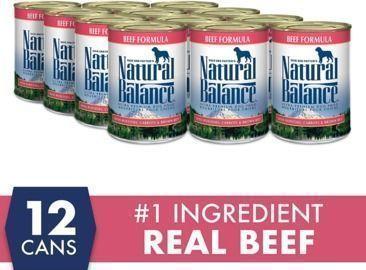 12 Cans - Natural Balance Ultra Premium Wet Dog Food