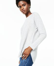 Charter Club Pure Cashmere Long-Sleeve Shirttail Sweater