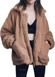 Women's Casual Faux Shearling Coat