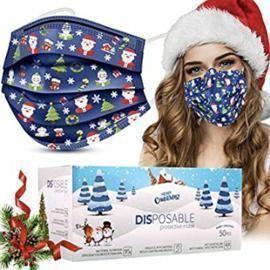50pk Kids Holiday Face Masks