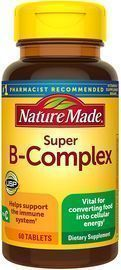 Nature Made Super B-Complex Tablets, 60 Count