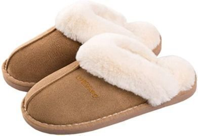 Women's Fur Fluffy Soft Slip on House Slippers (Indoor/Outdoor)
