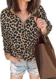 Women's Leopard Print Sweatshirts