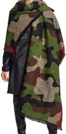 Cashmere Wool Camouflage Scarf