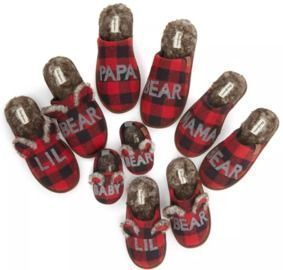 Family Bear Slippers are only $9.00!