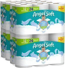 Pack of 4 Angel Soft Toilet Paper, 12 Count