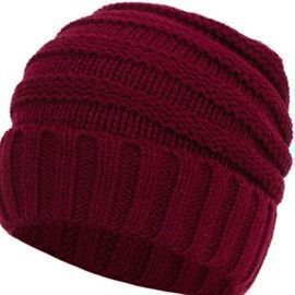 Unisex Chunky Soft Knitted Beanie Hat