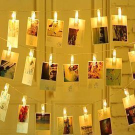 LED String Fairy Light with 20 Photo Clips