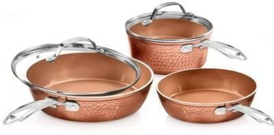 Gotham Steel 5 Pc. Hammered Ceramic Copper Cookware Set