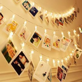 40 LEDs 20 Photo Clips String Fairy lights