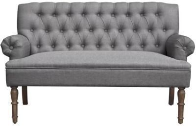 Bjorn 59 Wide Rolled Arm Settee, Gray