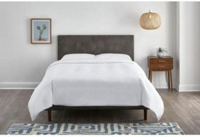 McCarrick Slate Gray Upholstered Bonded Leather Queen Bed