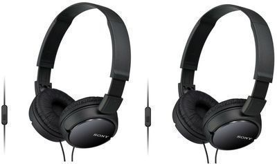 2-Pack of Sony MDR-ZX110AP Extra-Bass Headphones