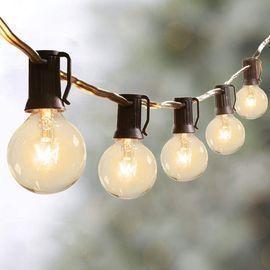 2 Pack 50Ft G40 Globe String Lights