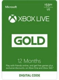 Xbox LIVE 12 Months Gold Membership US (Digital Code)