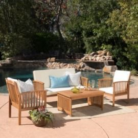 Sparks 4-piece Outdoor Acacia Sofa Set