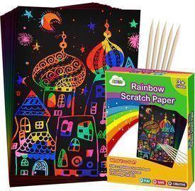 50 Piece Rainbow Magic Scratch Paper