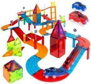 105pc. Kids Magnetic Racetrack Tiles Set