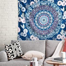 Aesthetic Floral Mandala Tapestry