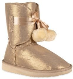Pom Pom Toddler Faux Shearling Mid Calf Winter Boots