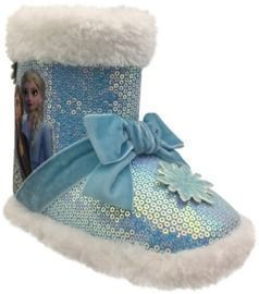 Disney Frozen 2 Anna & Elsa Cozy Faux Fur Lined Slipper Booties